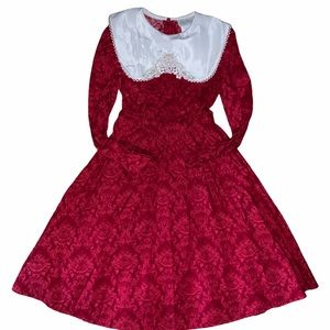 Vintage 90s rare editions red holiday dress